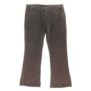 Theory Womens Shimra Solid Flare Corduroy Pants