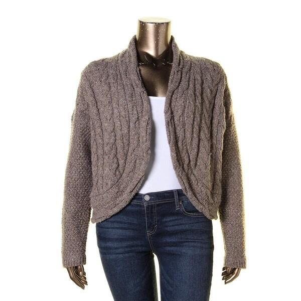 Lauren Ralph Lauren Womens Cardigan Sweater Wool Blend Marled