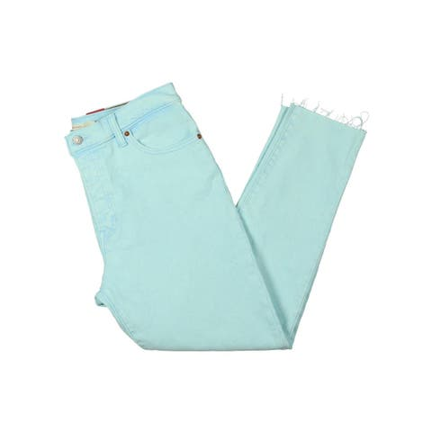 Levi's Womens Wedgie Colored Skinny Jeans Denim Stone Wash