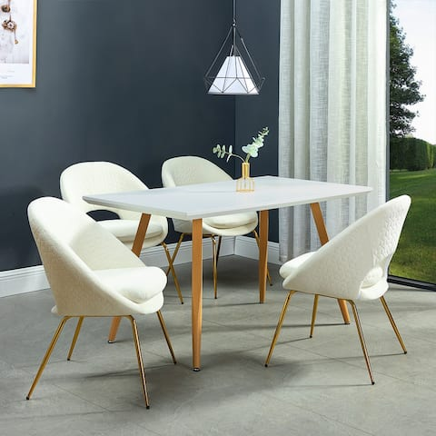 Galenia Upholstered Dining Chair with Open Back Set of 4