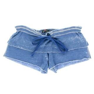 Paper Hart Womens Fleece Burnout Casual Shorts - L