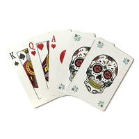 Day of Dead Sugar Skull Flower Pattern LP Artwork (Poker Playing Cards Deck)