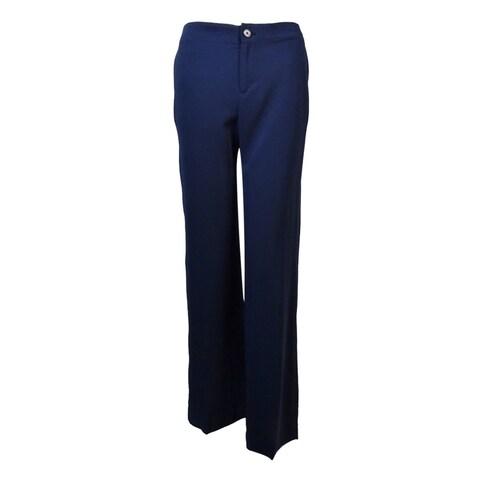 Lauren Ralph Lauren Women's Side Pocket Wide Leg Pants - Navy - 4P