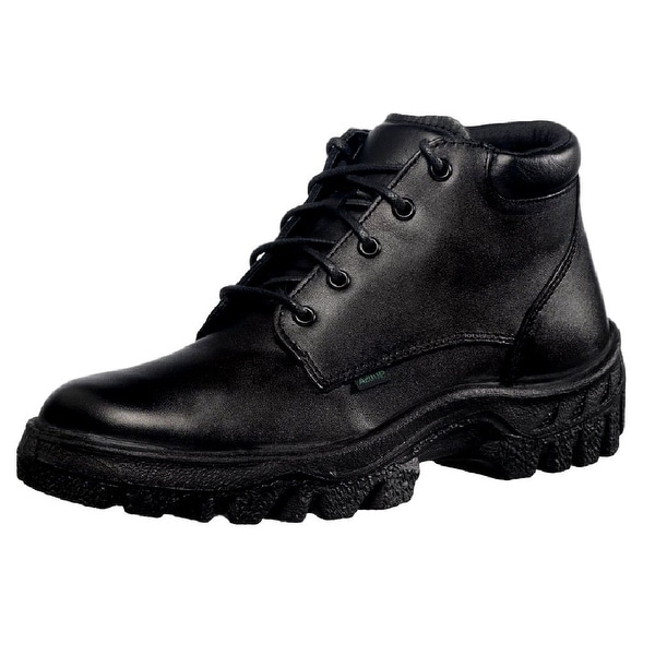 Rocky Work Boots Mens TMC Postal Leather Chukka Black