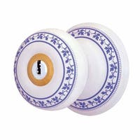 Int&Ext Keyed Door Knob Lock Set Porcelain Ajustable Backset  Renovator's Supply
