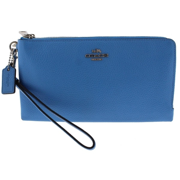 Coach Womens Clutch Wallet Leather Double Entry - o/s