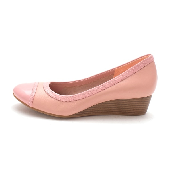 Cole Haan Womens Florasam Cap Toe Wedge Pumps, Pink, Size 6.0