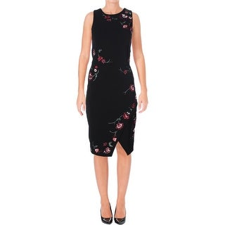 Parker Womens Cocktail Dress Embroidered Floral