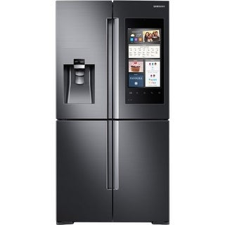 Samsung RF28M9580S 36 Inch Wide 27.9 Cu. Ft. Energy Star Rated Four Door French Door Refrigerator with Family Hub and Wine Rack