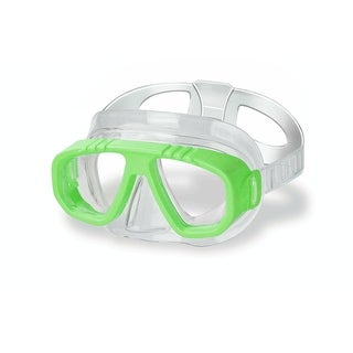 Lime Green Newport Recreational Swim Mask for Kids - CLEAR