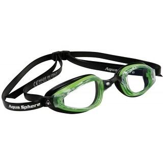 Aqua Sphere K-180+ Micro Gasket Clear Lens Swim Goggles - Black/Green