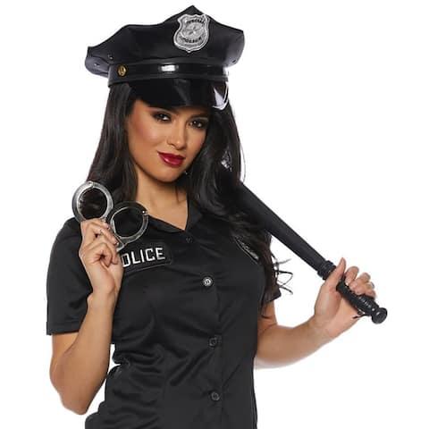 Police Women's Costume Accessory Kit - Black