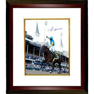 Victor Espinoza signed 8X10 Photo 2015 Kentucky Derby Horse Racing Triple Crown Custom Framed ridin