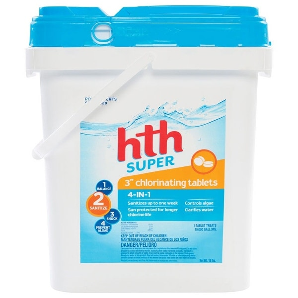 Hth 42011 Chlorinating Chemicals Tablet, 15 Lb by Hth