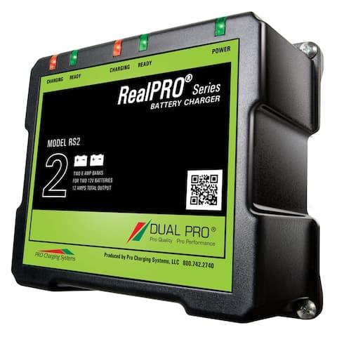 Dual Pro RealPRO Series Battery Charger - 12A - 2-6A-Banks - 12V/24V