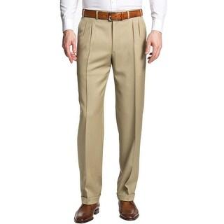 Polo Ralph Lauren Blue Label Dress Pants 34 Dalton Beige Made In Italy