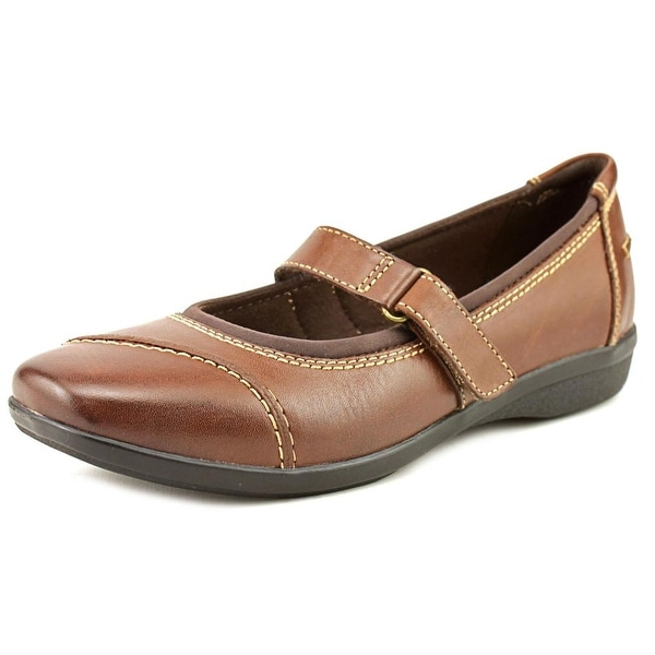 Clarks Narrative Haydn Garnet Women Round Toe Leather Brown Mary Janes