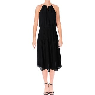 MICHAEL Michael Kors Womens Hayden Cocktail Dress Chiffon Pleated