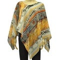 Beautiful Chiffon Lightweight Poncho Wrap Scarf Abstract Paisley - Thumbnail 0