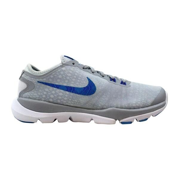 51aab09d8c780 Shop Nike Flex Supreme TR 4 PR Pure Platinum Blue Glow-Wolf Grey ...