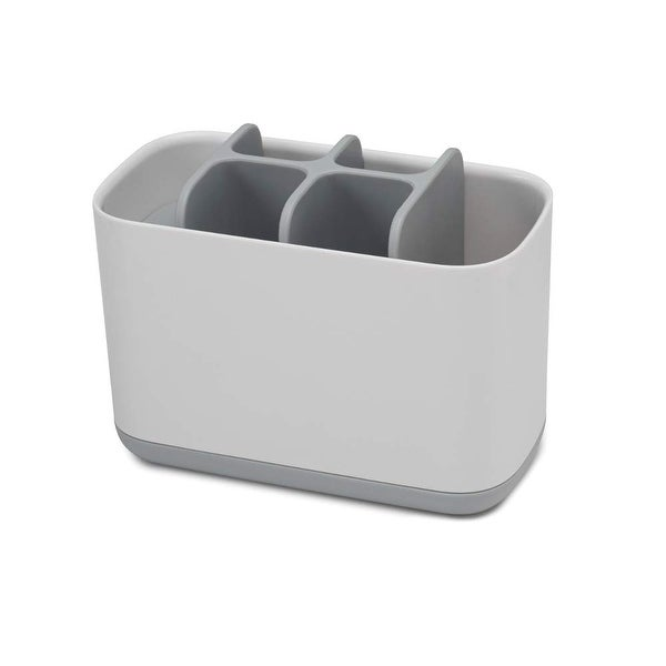 Joseph Joseph 70510 EasyStore Toothbrush Holder Bathroom Storage Organizer Caddy, Large, Gray - Grey. Opens flyout.