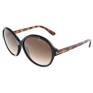 Tom Ford FT0343/S 05B MILENA Black/Havana Round sunglasses