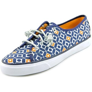 Sperry Top Sider Seacoast Women Round Toe Canvas Blue Sneakers