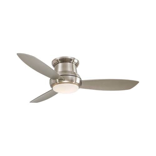 """MinkaAire Concept II 52 3 Blade 52"""" Concept II Flushmount Ceiling Fan - Integrated Light, Handheld Remote Control and Blades"""