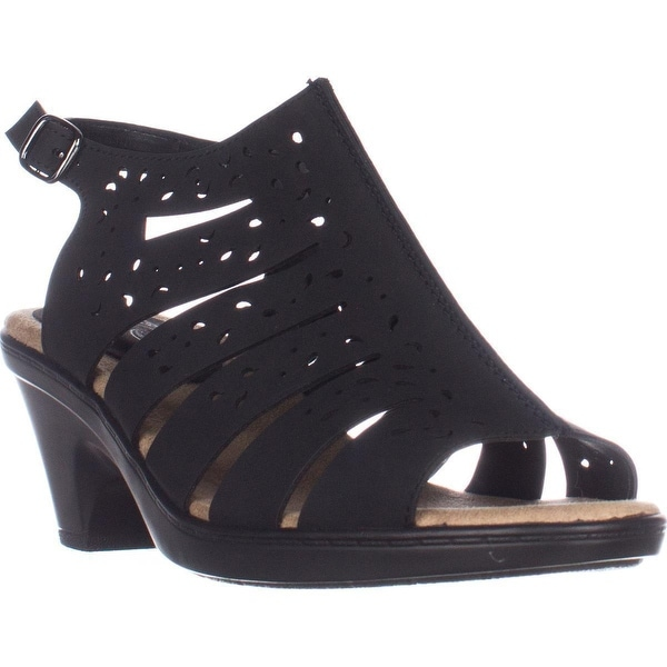 Easy Street Kamber Comfort Heeled Sandals, Black