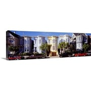 Premium Thick-Wrap Canvas entitled Cars parked in front of Victorian houses, San Francisco, California