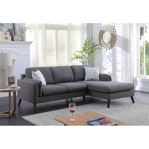 Founders Mid-century Modern Right Facing Sectional Sofa Chaise