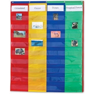 Learning Resources LER2382 2 And 4 Column Double-Sided Pocket- Chart