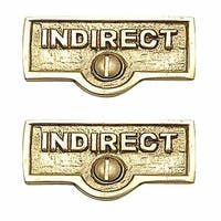 2 Switch Plate Tags INDIRECT Name Signs Labels Brass | Renovator's Supply