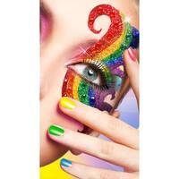 Rainbow Half Mask, Rainbow Eye Mask - One Size Fits most