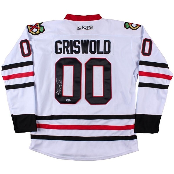 22e54623e Chevy Chase Signed Blackhawks CCM Griswold Christmas Vacation Jersey BAS