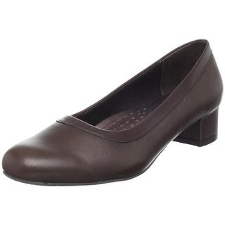 Trotters Womens Dora Leather Solid Pumps