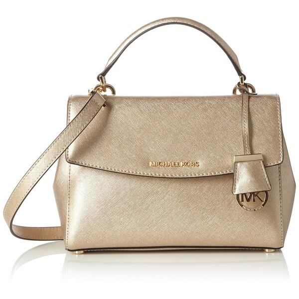 590c1f24ada9b4 Shop Michael Kors NEW Pale Gold Leather Ava Small Satchel Purse ...