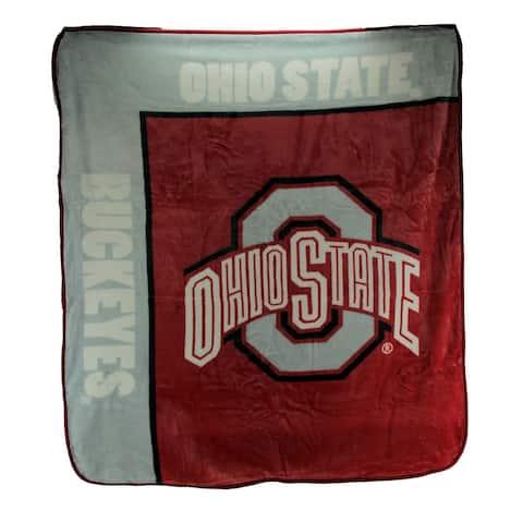 Ohio State University Buckeyes Super Plush Raschel Throw Blanket 60 X 50 - 0.25 X 60 X 50 inches