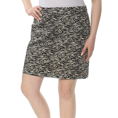 XSCAPE Womens Black Printed Above The Knee A-Line Wear To Work Skirt Size: 16