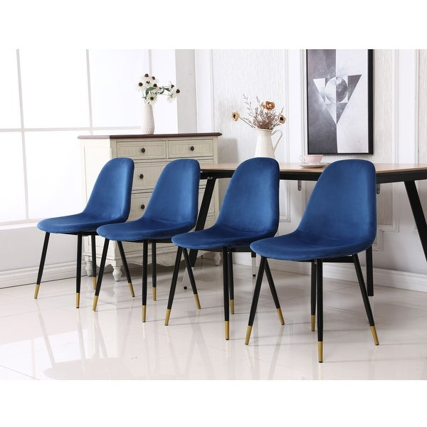 Lassan Contemporary Fabric Upholstered Dining Chairs (Set of 4). Opens flyout.