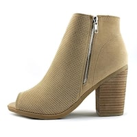 Call It Spring Womens Metaponto Peep Toe Ankle Fashion Boots