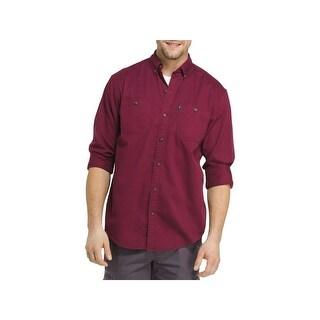 G.H. Bass & Co. Mens Button-Down Shirt Twill Wicking