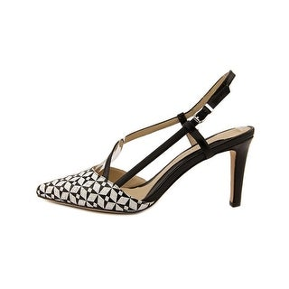 Carolinna Espinosa Womens Cooper Pointed Toe Ankle Strap Classic Pumps