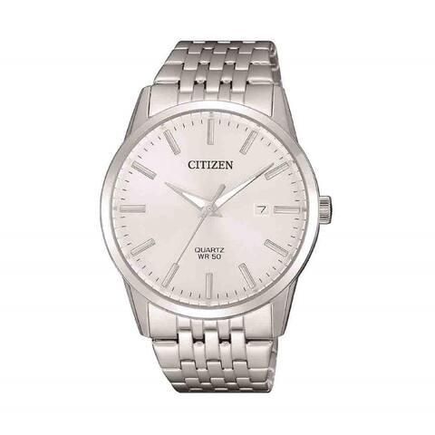 Citizen Men's BI5000-87A 'Dress' Stainless Steel Watch - Silver