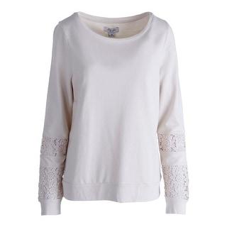 Lucky Brand Womens Cotton Long Sleeves Sweatshirt