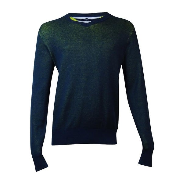 d7defee44 Shop Tommy Hilfiger Men's Two-Tone Sweater (L, Navy) - Navy - L - Free  Shipping On Orders Over $45 - Overstock - 15014760