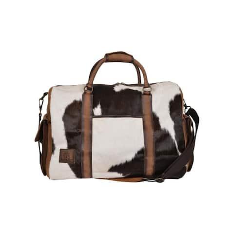 StS Ranchwear Western Bag Womens Cowhide Duffle Hair On Brown - 23 x 12.25 x 11.5