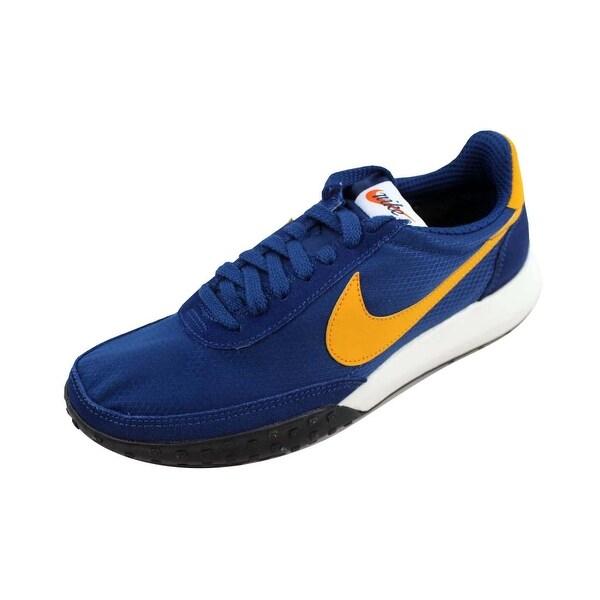 a4856df393e2d Shop Nike Men s Roshe Waffle Racer NM Coastal Blue Gold Leaf 845089 ...