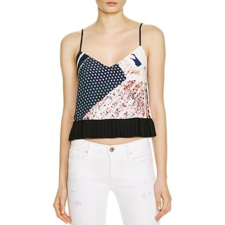 French Connection Womens Crop Top Printed Sleeveless