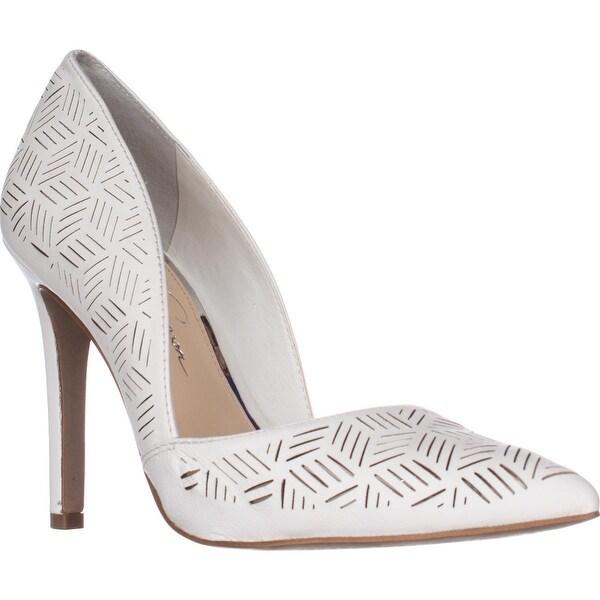 Jessica Simpson Charie Pointed-Toe Dress Pumps, Powder Sleek